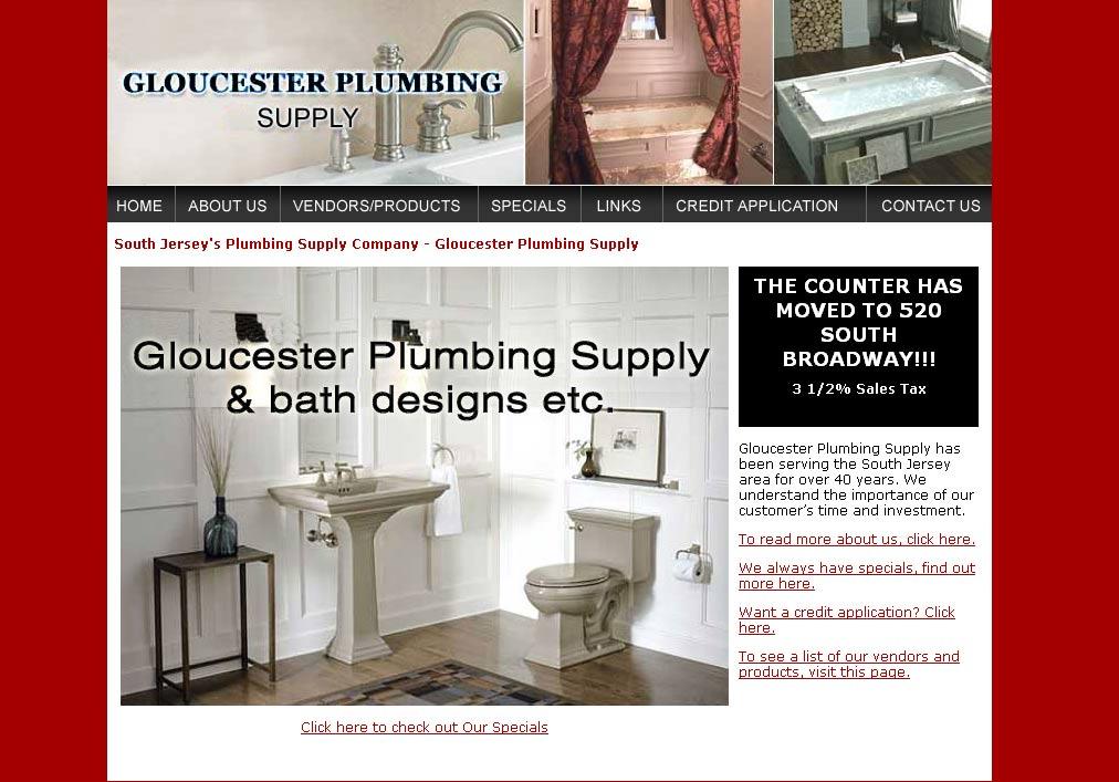 Gloucester Plumbing Supply South Jersey Web Design Hosting