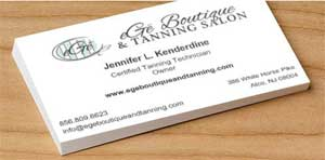 Business Cards for eGe' Boutique and Tanning